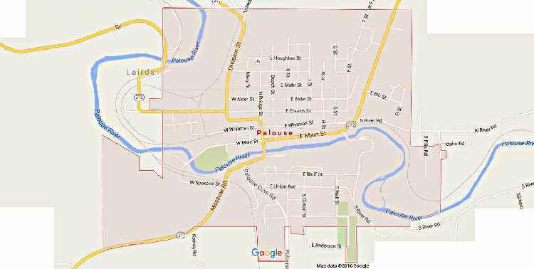 Palouse Falls Washington Map.City Of Palouse The Heart Of The Palouse 99161