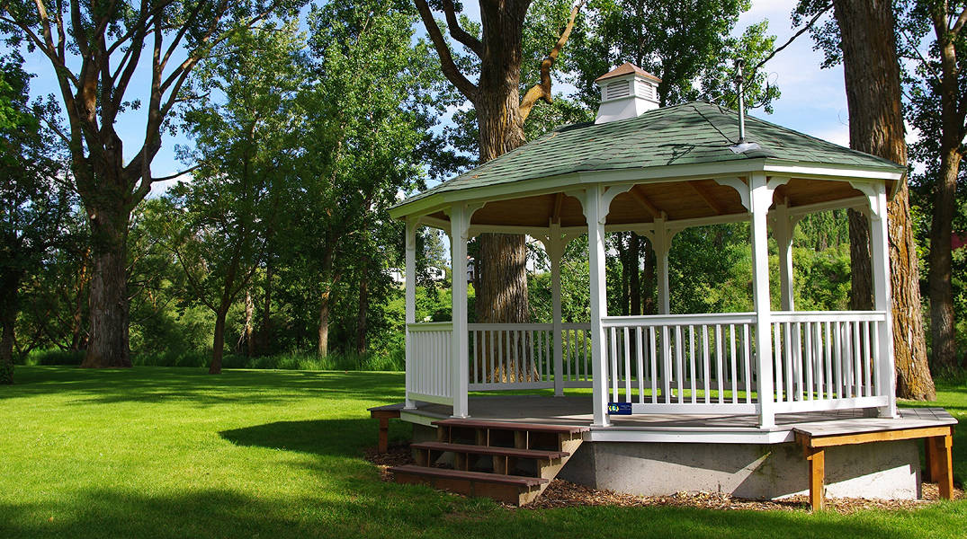 Gazebo in the City Park